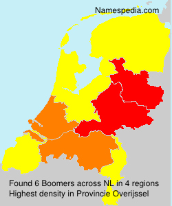 Surname Boomers in Netherlands