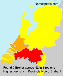 Surname Breker in Netherlands