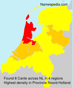 Surname Cante in Netherlands