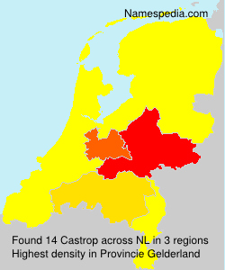 Surname Castrop in Netherlands