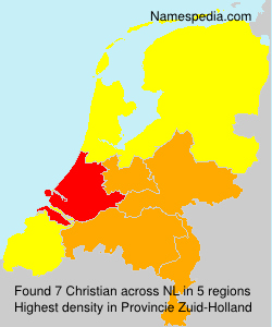 Surname Christian in Netherlands