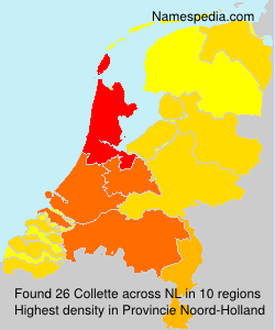 Surname Collette in Netherlands