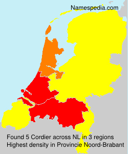 Surname Cordier in Netherlands
