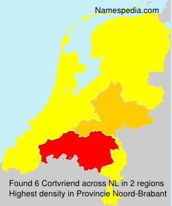 Surname Cortvriend in Netherlands