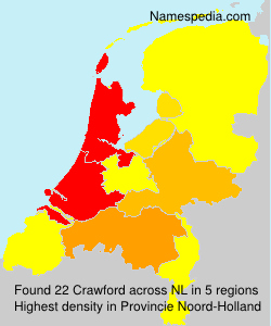 Surname Crawford in Netherlands
