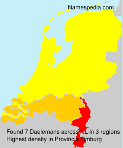 Surname Daelemans in Netherlands