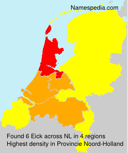 Surname Eick in Netherlands