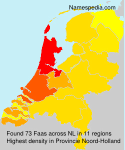 Surname Faas in Netherlands