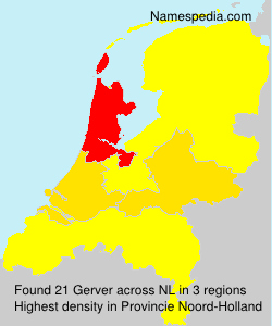 Surname Gerver in Netherlands