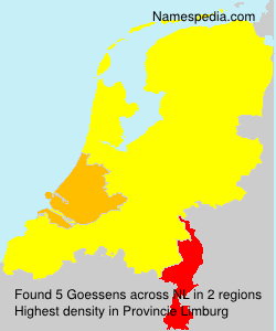 Surname Goessens in Netherlands