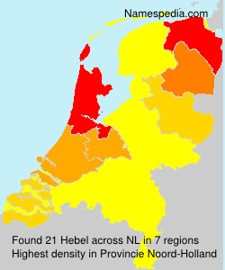 Surname Hebel in Netherlands