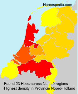Surname Hees in Netherlands