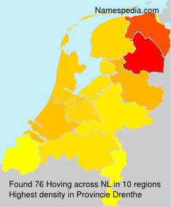 Surname Hoving in Netherlands