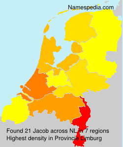 Surname Jacob in Netherlands