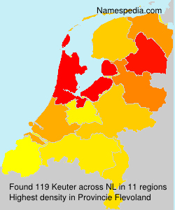 Surname Keuter in Netherlands