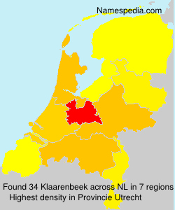 Surname Klaarenbeek in Netherlands