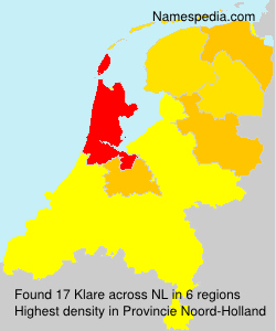 Surname Klare in Netherlands