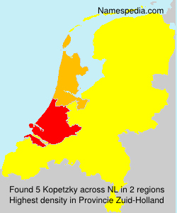 Surname Kopetzky in Netherlands
