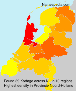 Surname Korfage in Netherlands