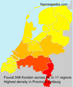 Surname Korsten in Netherlands