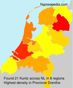 Surname Kuntz in Netherlands