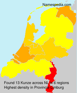 Surname Kunze in Netherlands