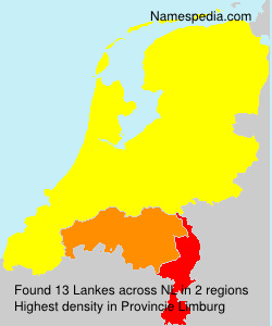 Surname Lankes in Netherlands
