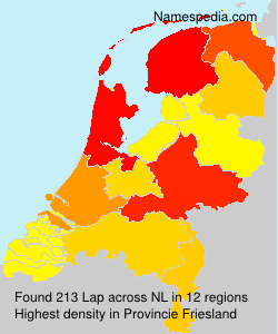 Surname Lap in Netherlands