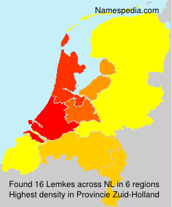 Surname Lemkes in Netherlands