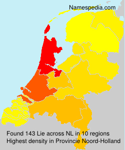 Surname Lie in Netherlands