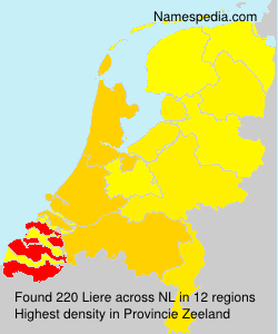 Surname Liere in Netherlands