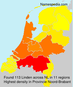 Surname Linden in Netherlands