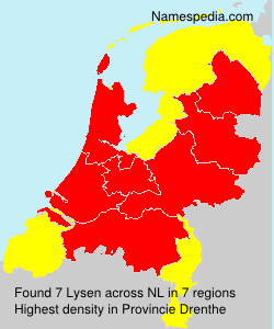 Surname Lysen in Netherlands
