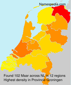 Surname Maar in Netherlands