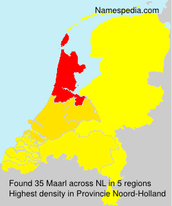 Surname Maarl in Netherlands