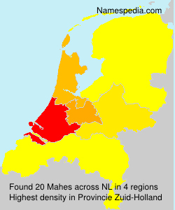 Surname Mahes in Netherlands