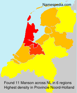 Surname Manson in Netherlands