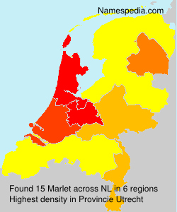 Surname Marlet in Netherlands