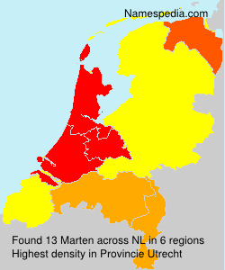 Surname Marten in Netherlands