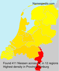 Surname Niessen in Netherlands