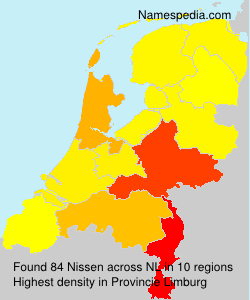 Surname Nissen in Netherlands