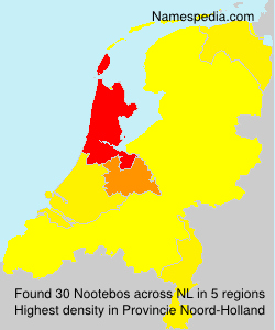 Surname Nootebos in Netherlands