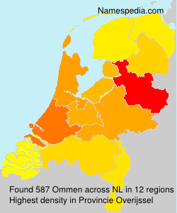 Surname Ommen in Netherlands