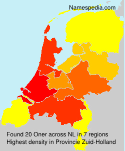 Surname Oner in Netherlands