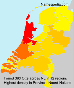 Surname Otte in Netherlands