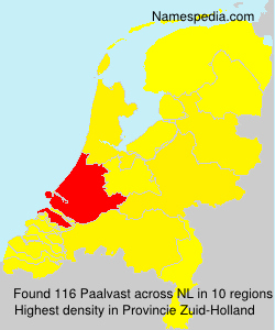 Surname Paalvast in Netherlands