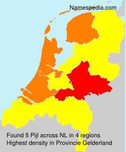 Surname Pijl in Netherlands