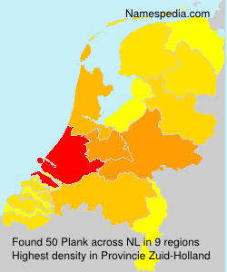 Surname Plank in Netherlands