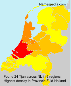 Surname Tjan in Netherlands