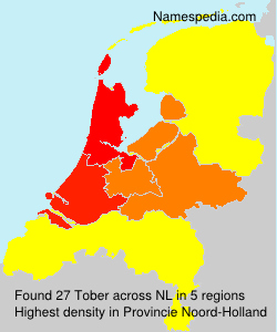 Surname Tober in Netherlands